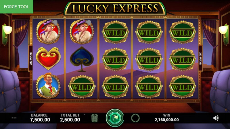 Lucky Express :: Multiple winning combinations leads to a super win