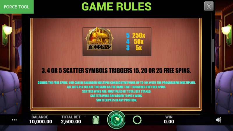 Lucky Express :: Free Spins Rules