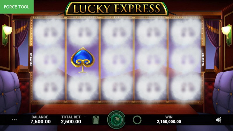 Lucky Express :: Winning symbols are removed from the reels and new symbols drop in place