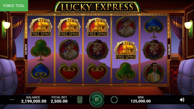 Lucky Express :: Scatter symbols triggers the free spins feature