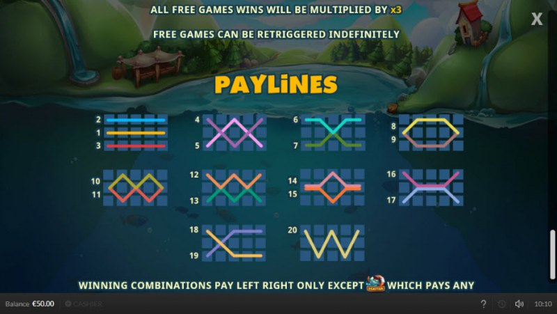 Lucky Fisherman :: Paylines 1-20