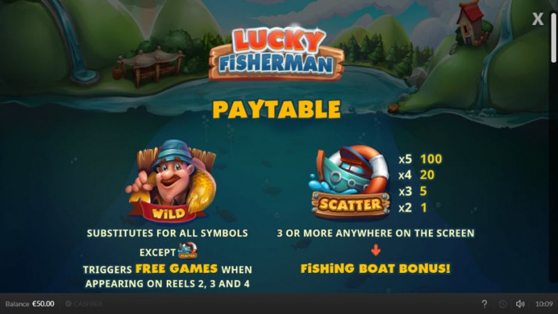 Lucky Fisherman :: Wild and Scatter Rules