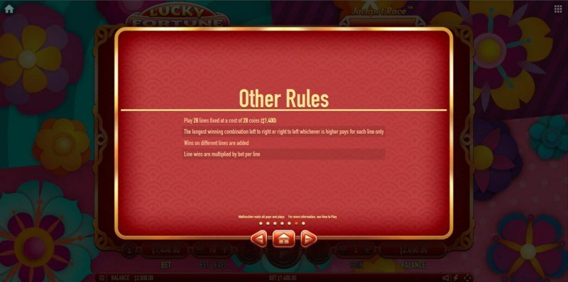 Lucky Fortune Cat :: General Game Rules