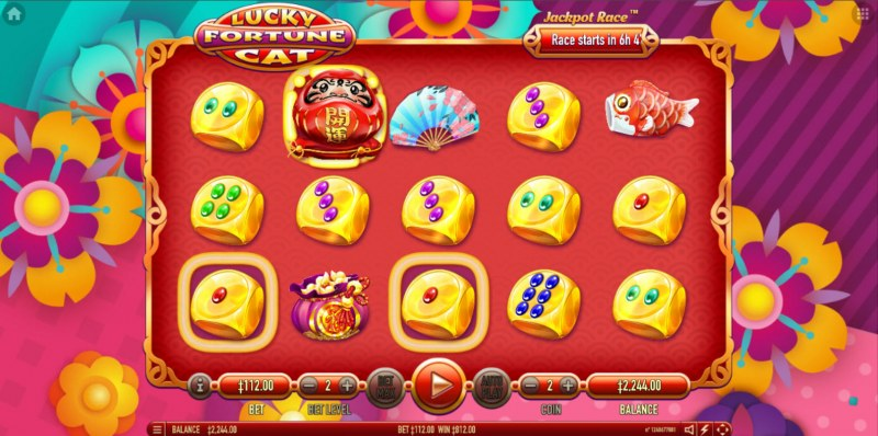 Lucky Fortune Cat :: Free Spins Game Board