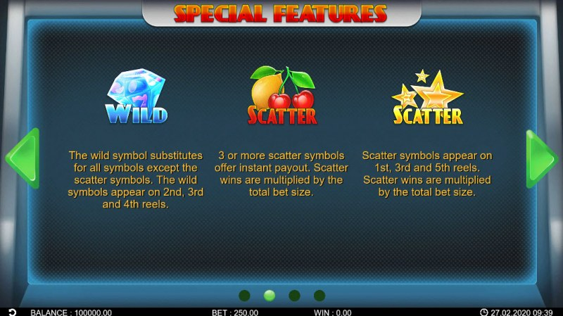 Lucky Fruit Lines :: Wild and Scatter Rules