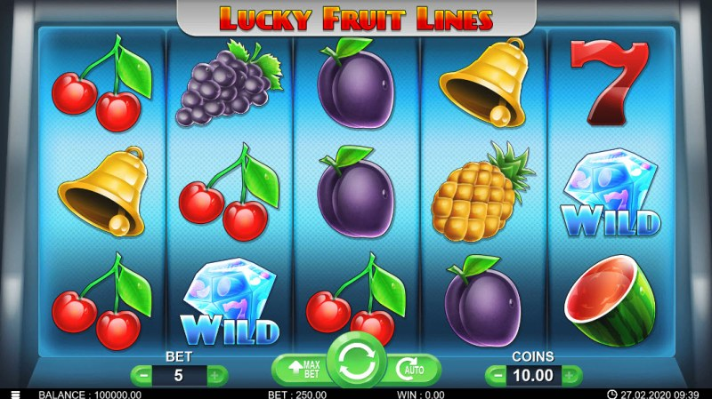 Lucky Fruit Lines :: Main Game Board