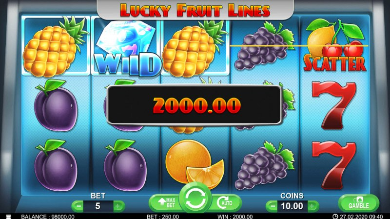 Lucky Fruit Lines :: Three of a kind