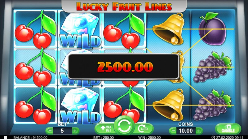 Lucky Fruit Lines :: Multiple winning paylines