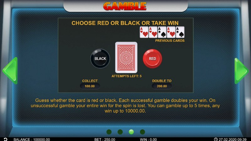 Lucky Fruit Lines :: Gamble Feature Rules