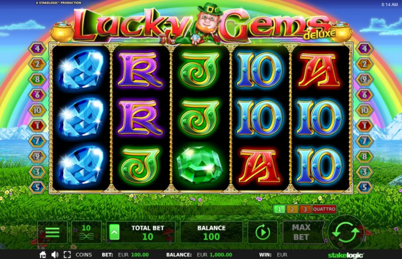 Lucky Gems Deluxe :: Main Game Board