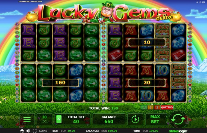 Lucky Gems Deluxe :: Multiple winning combinations