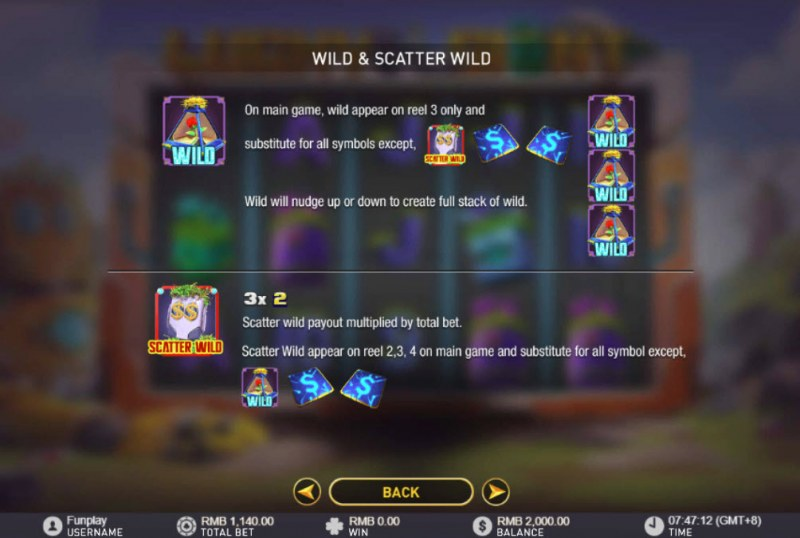 Lucky Giant :: Wild and Scatter Rules
