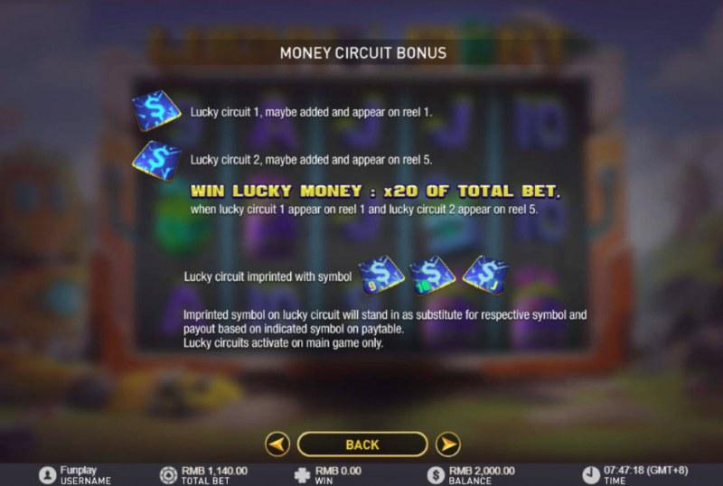 Lucky Giant :: Bonus Game Rules