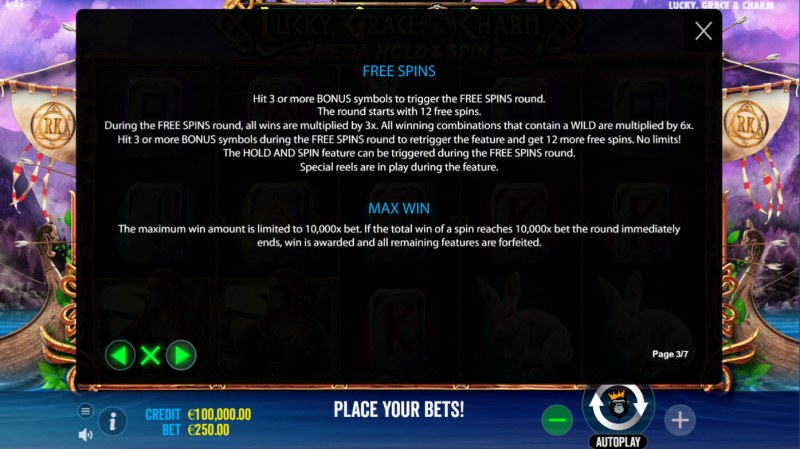 Lucky, Grace & Charm :: Free Spin Feature Rules
