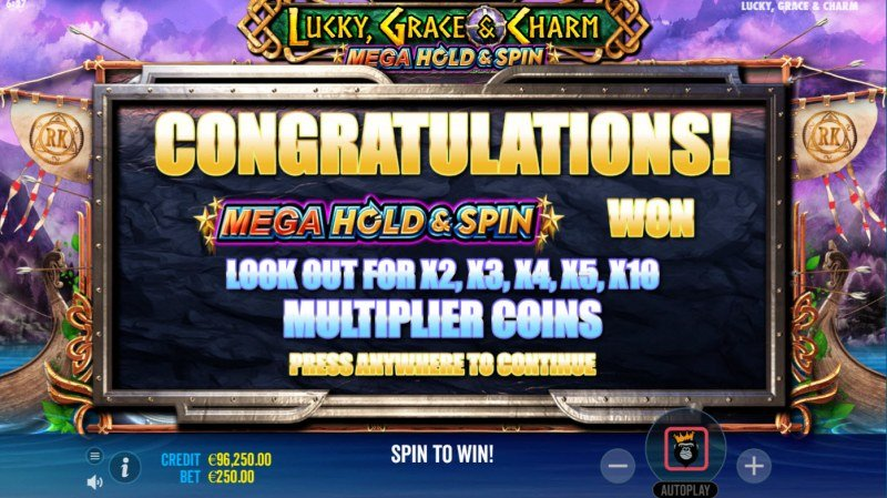 Lucky, Grace & Charm :: Hold and Spin Feature