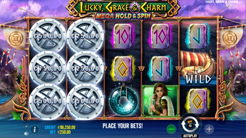 Lucky, Grace & Charm :: Scatter symbols triggers the Hold and Spin feature