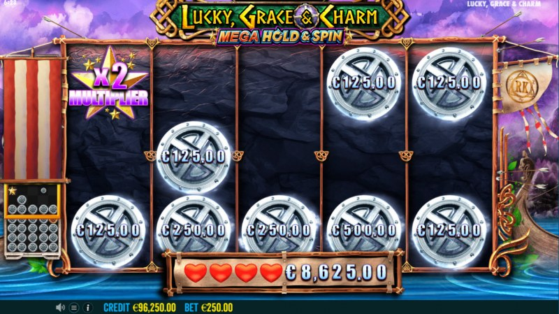 Lucky, Grace & Charm :: Land star symbol and multiply your winnings
