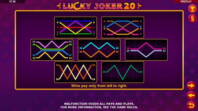 Lucky Joker 20 :: Paylines 1-20
