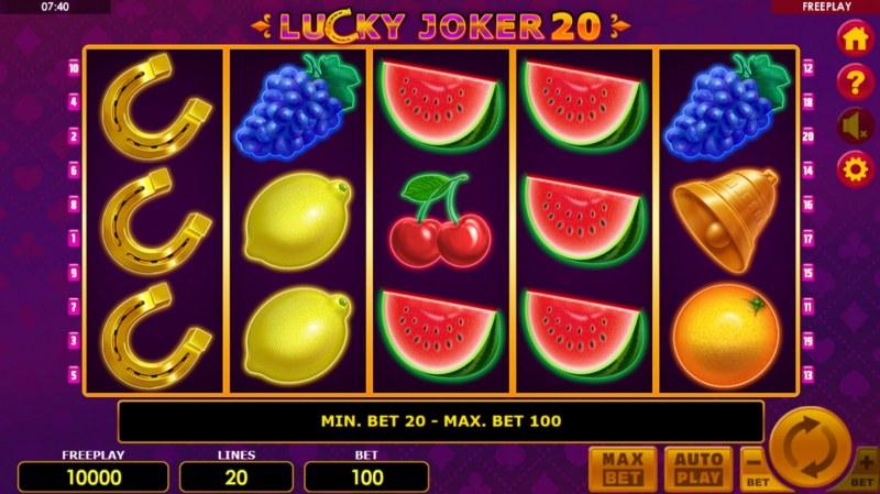 Lucky Joker 20 :: Main Game Board