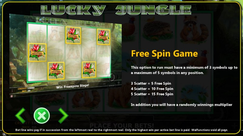 Lucky Jungle :: Free Spins Rules