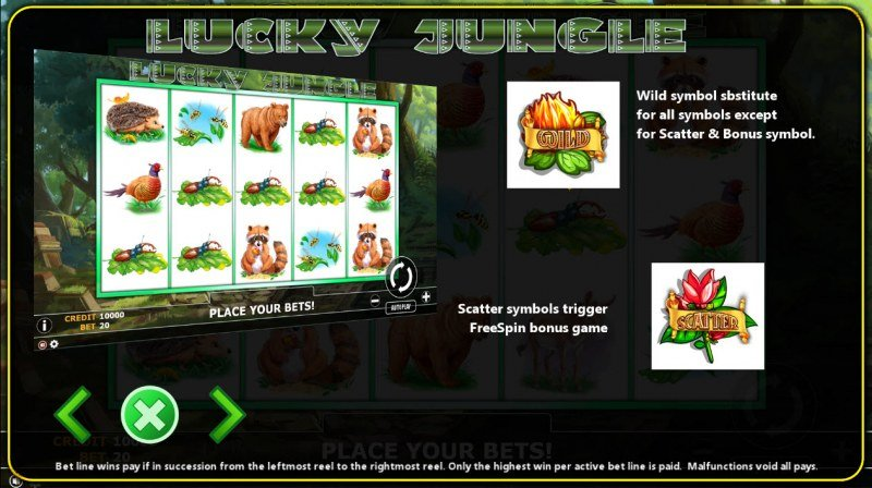 Lucky Jungle :: Wild and Scatter Rules