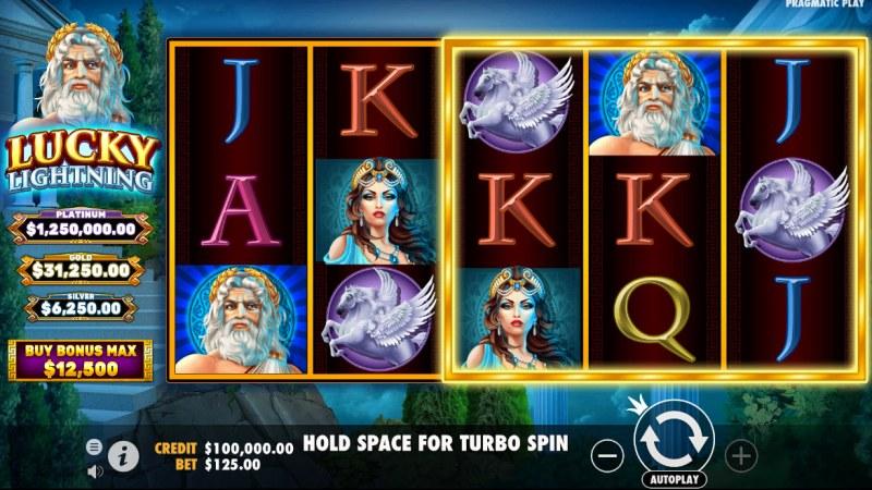 Lucky Lightning :: Base Game Screen