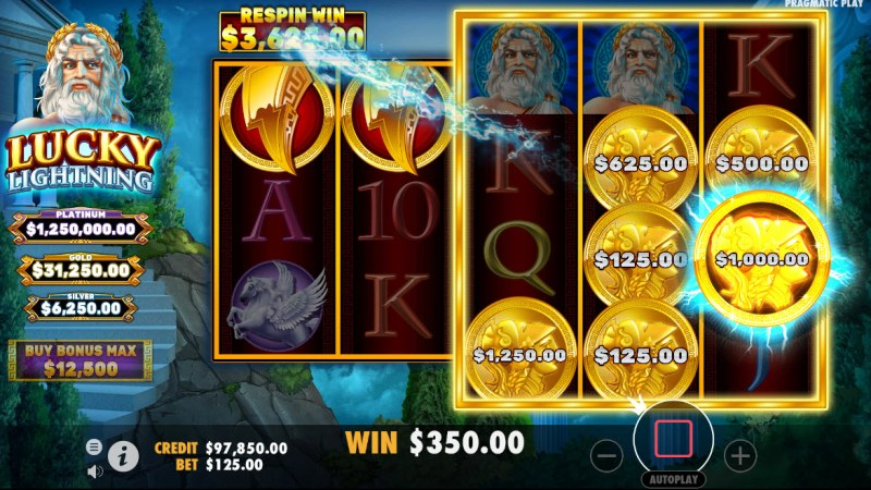 Lucky Lightning :: Spin the reel and land more coin symbols