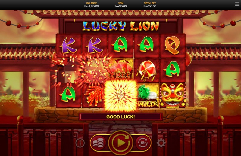 Lucky Lion :: Multiple winning paylines