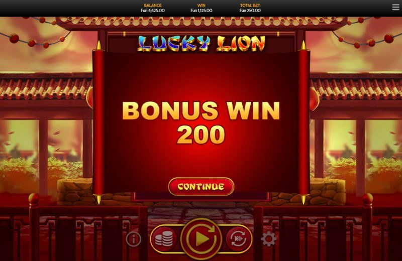 Lucky Lion :: Total bonus payout
