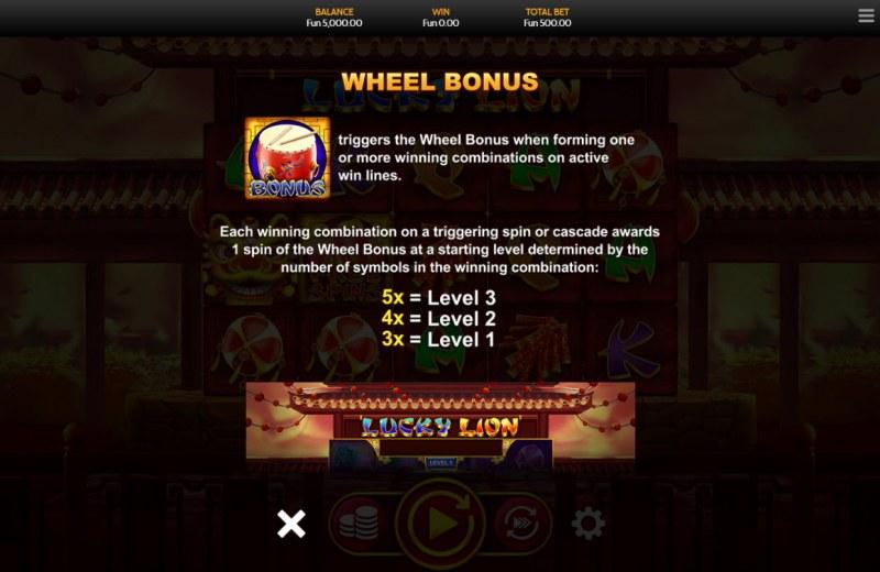 Lucky Lion :: Wheel Bonus