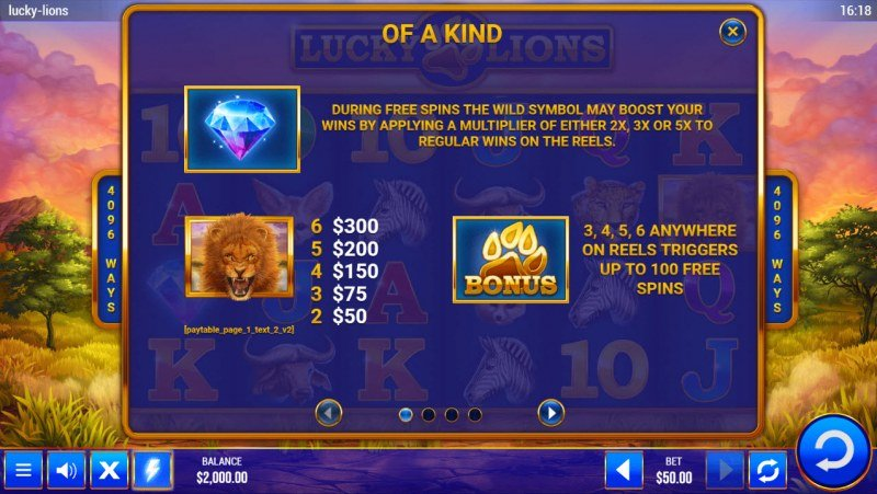 Lucky Lions :: Wild and Scatter Rules