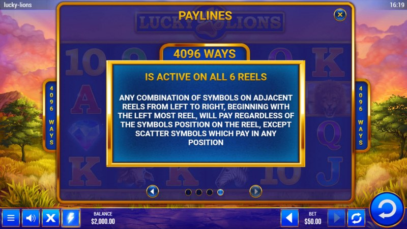 Lucky Lions :: 4096 Ways to Win