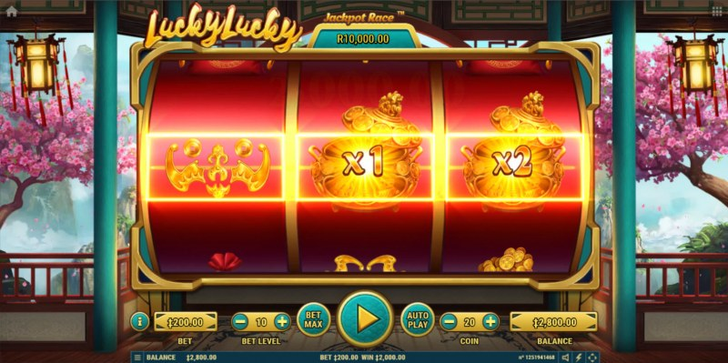 Lucky Lucky :: A three of a kind win