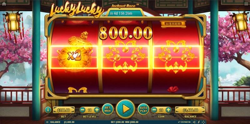 Lucky Lucky :: 2x Multiplier awarded