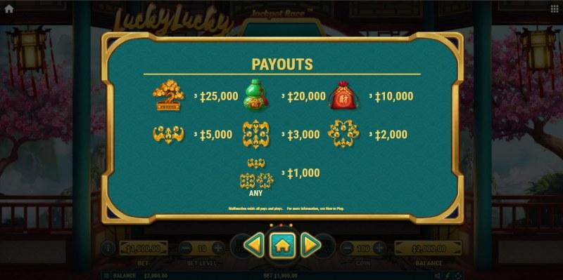 Lucky Lucky :: Paytable