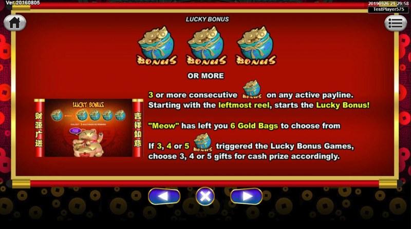 Lucky Meow :: Bonus Game Rules