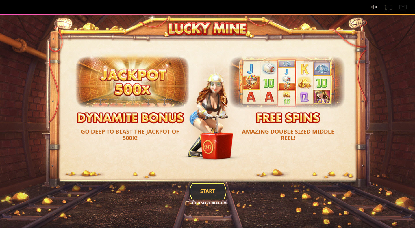 Play slots at Montecryptos: Montecryptos featuring the Video Slots Lucky Mine with a maximum payout of $20,000