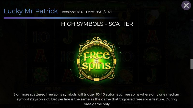 Lucky Mr. Patrick :: Scatter Symbol Rules