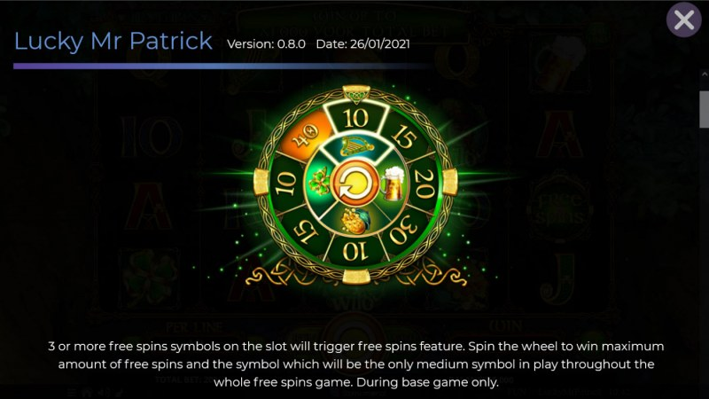 Lucky Mr. Patrick :: Free Spin Feature Rules