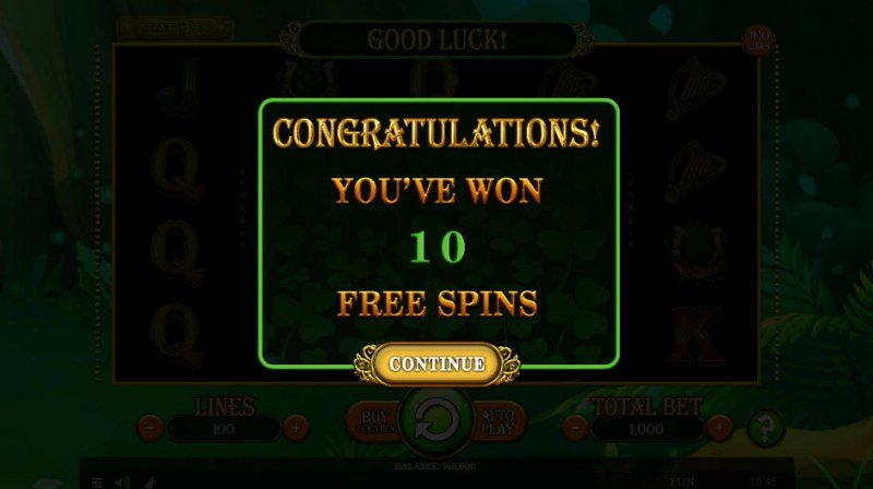 Lucky Mrs. Patrick :: 10 Free Spins Awarded