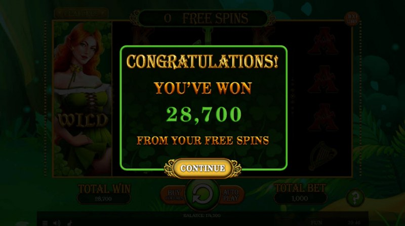 Lucky Mrs. Patrick :: Total free spins payout