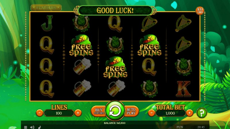 Lucky Mrs. Patrick :: Scatter symbols triggers the free spins feature