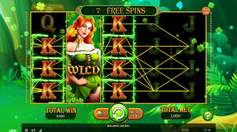 Lucky Mrs. Patrick :: Free Spins Game Board