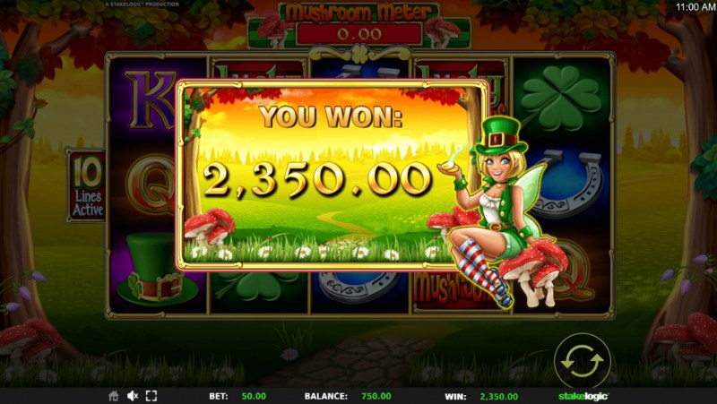 Lucky Mushrooms Deluxe :: Total free spins payout