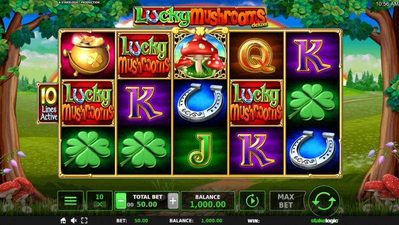 Lucky Mushrooms Deluxe :: Main Game Board