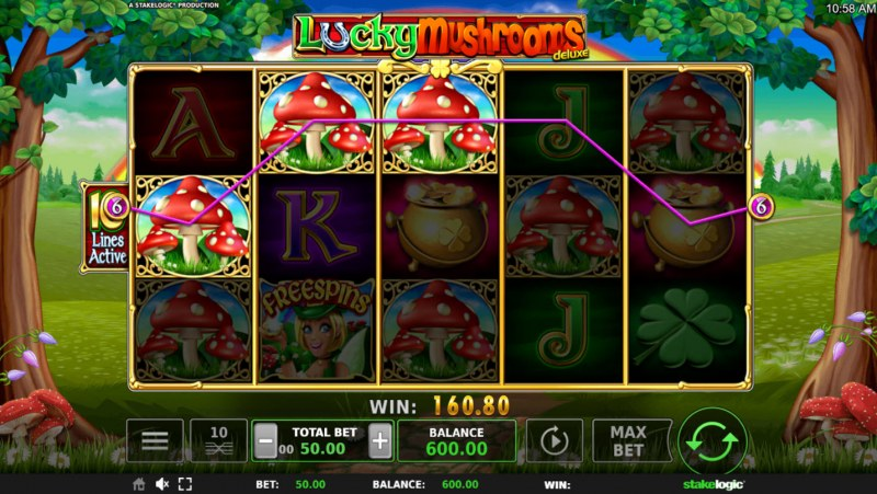 Lucky Mushrooms Deluxe :: Three of a kind