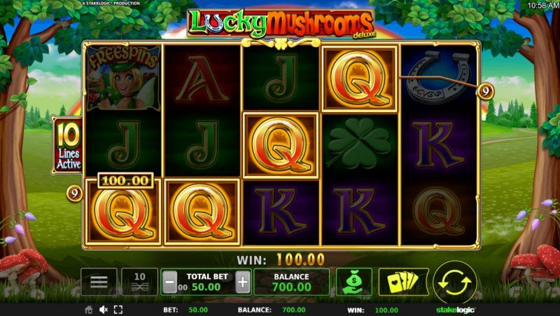 Lucky Mushrooms Deluxe :: Four of a kind Win