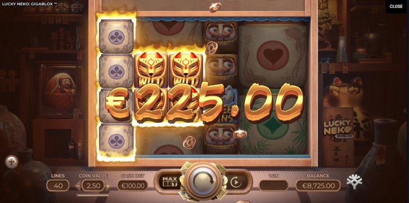 Lucky Neko Gigablox :: Multiple winning paylines