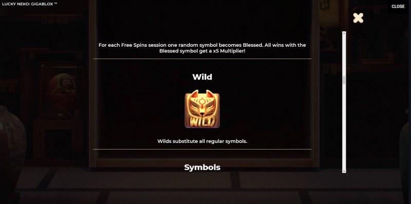 Lucky Neko Gigablox :: Wild Symbols Rules