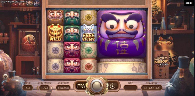 Lucky Neko Gigablox :: Main Game Board